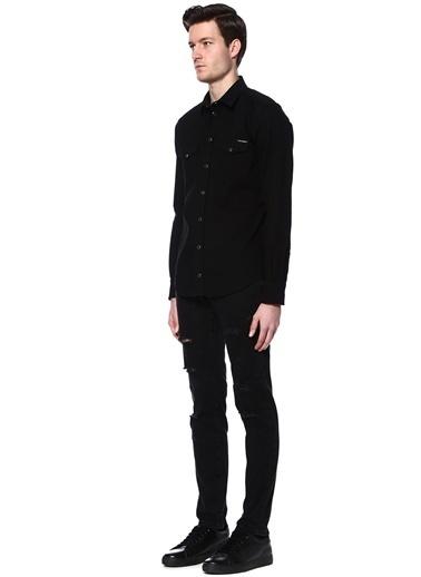 Çıtçıtlı Uzun Kollu Gömlek-Dolce&Gabbana